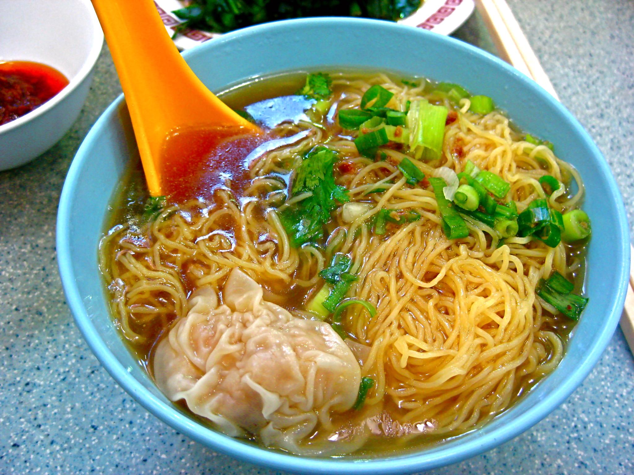 Wonton Noodle Soup Hong kong: wonton noodle soup